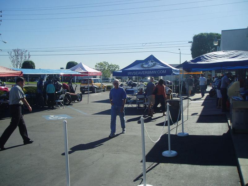 The vendor area
