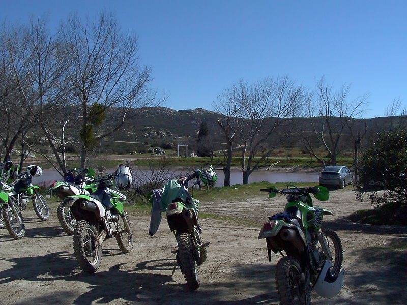 The bikes, the view and the lake