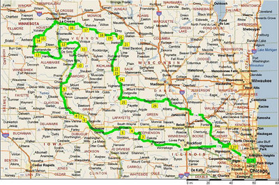 2006 September Black Hammer Motorcycle Route