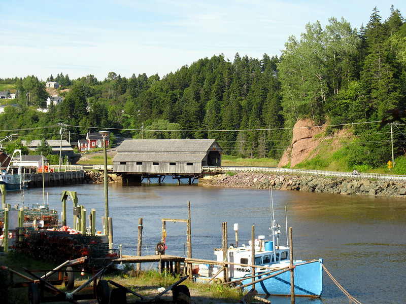 "St.Martins, New BrunswickThe Fundy Coast Drive out of Saint John heading east brings you to the town of St. Martins, a charming little village on the Bay of Fundy coast. Settled in 1783 it originally was the site of ship building and shipping. Today it's become a sightseers delight. Some points of interest are, miles of unspoiled beaches, fresh and salt water fishing, an active harbour with twin covered bridges, the sea caves, Anvil Rock, and the salt marshes just to name a few.<br />   From Bangor...4 1/2 hours. Scenic pictures below give you a taste of the beauty of St. Martins.Bay of Fundy Trail. New Brunswick <a href=""http://www.advrider.com/forums/showthread.php?t=217444"">http://www.advrider.com/forums/showthread.php?t=217444</a>"