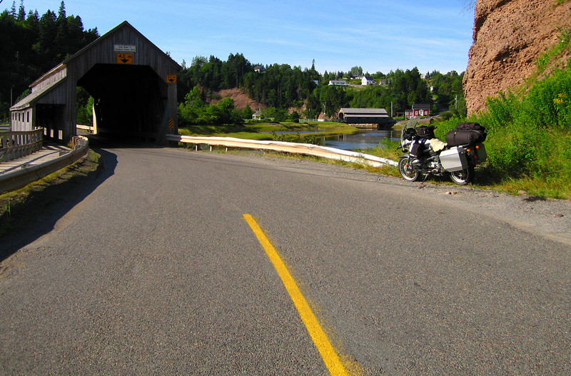 """If you take the other bridge you will find a beautiful beach and the famous caves of St. Martins. Continuing on you come to the entrance of the Fundy Trail. <a href=""""http://www.advrider.com/forums/showthread.php?t=217444"""">http://www.advrider.com/forums/showthread.php?t=217444</a>"""