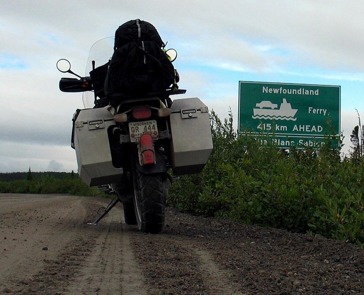 "From Cartwright <br /> Newfoundland Ferry <br /> 415 km AHEAD <br /> Via Blanc Sablon <a href=""http://www.advrider.com/forums/showthread.php?t=217444"">http://www.advrider.com/forums/showthread.php?t=217444</a>"