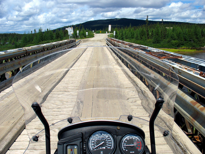 "There are many wood planked bridges like this one near Labrador City <a href=""http://www.advrider.com/forums/showthread.php?t=217444"">http://www.advrider.com/forums/showthread.php?t=217444</a>"