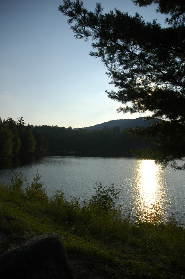 One of the many lakes in the Adirondacks (just outside of Tupper Lake, NY)
