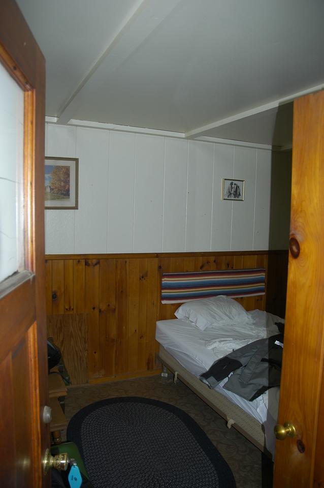 The fine $35 a night cabins in Tupper Lake