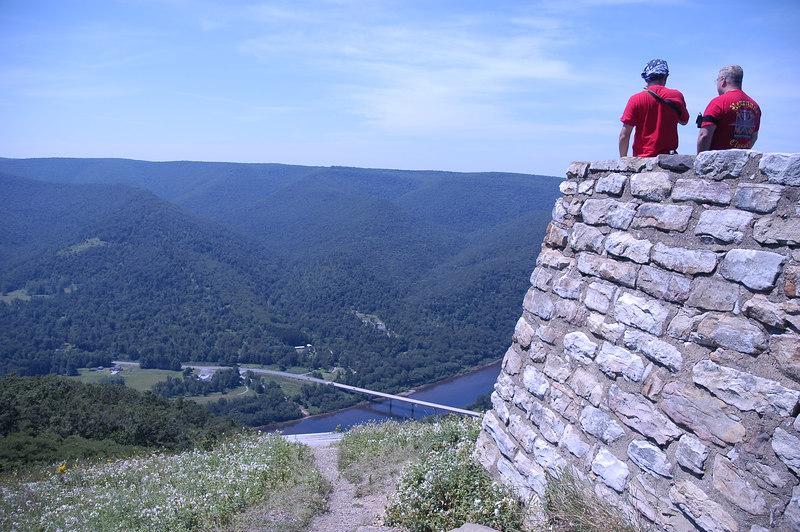 Craig and Bill take in the scenic vistas