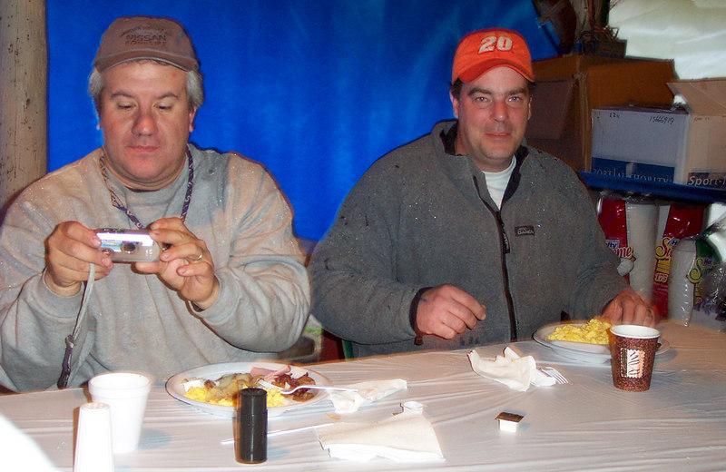 Jorge and Scott having breakfast.