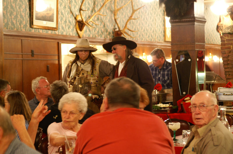 Calamity Jane and Wild Bill Hickock chat with the Irma's dinner patrons, which is just one of the many reasons one would choose to have dinner at the Irma. I think Madonna was there, too, I'm not sure. And some big guy in a red t-shirt. I chatted with a guy who was from Calgary, Alberta. How 'bout that, eh?