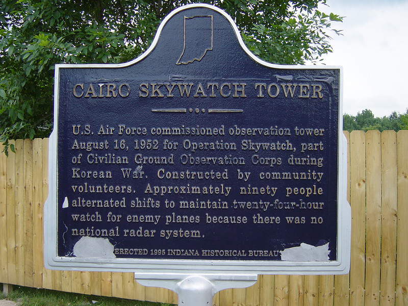 Skywatch Memorial in Cairo, Indiana.