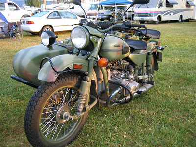Ural sidecar rig. This was generously donated as a demo bike by Ural.