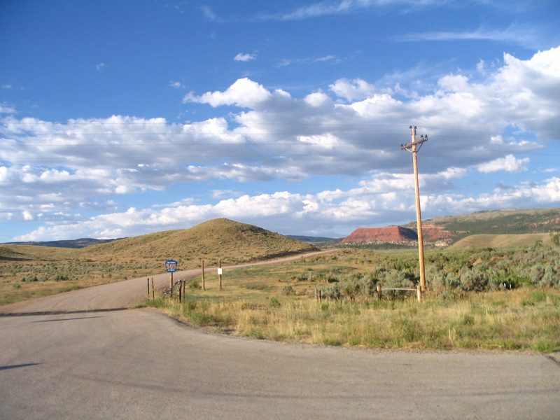 Dirt road  we came out of from Casper Mountain.