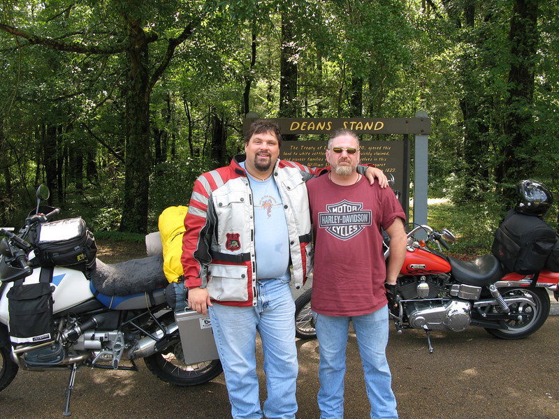 Dan and me on the Natchez Trace