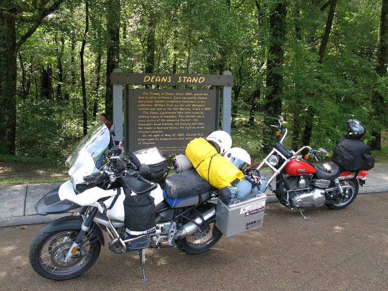 Rest Stop along the Natchez Trace on the way to Chattanooga