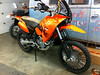 KTM 640 Adv with high fender installed. 950 SE fender and 85 SX fork protectors.