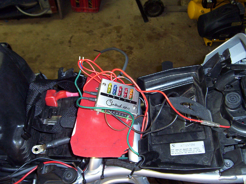 """I mounted the Centech fuse panel to a plasic piece that lays in the """"tool tray""""."""