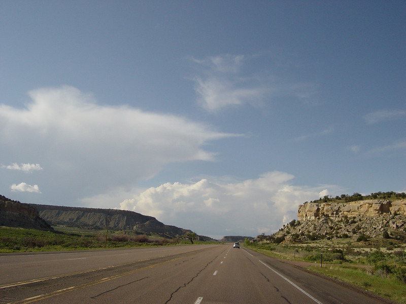 Day 1 - Last picture from US550 before the rain. Still south of Cuba, NM.