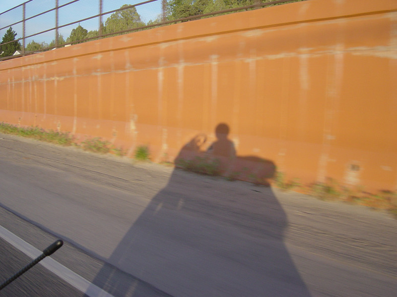 Day 1 - Riding through Aztec NM. Had to get another shadow picture.