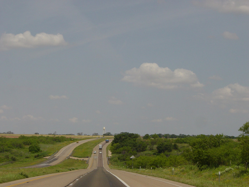 Day 1 - US287 north of Childress TX, headed to Amarillo