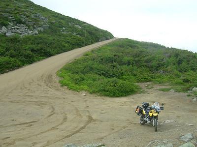 A dirt portion of the Mt. Washington Auto Road