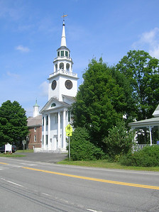 The postcard shot of a typical New England Town