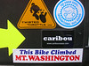 "Not available in stores or over the internet.... the official ""This Bike Climbed MT. WASHINGTON"" sticker!"