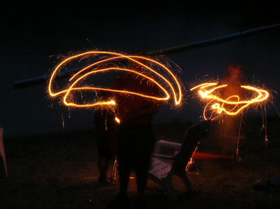 Fun with sparklers and the Fireworks setting on my camera