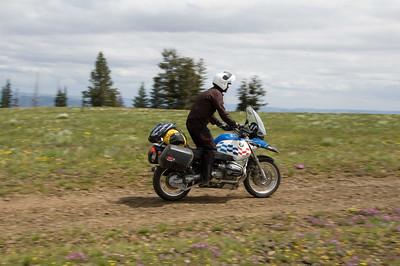 I dont think I stood up more than twice on this route.  Of course there is considerable weight difference between a GS and a KLR.  The big bigs did great on this road.