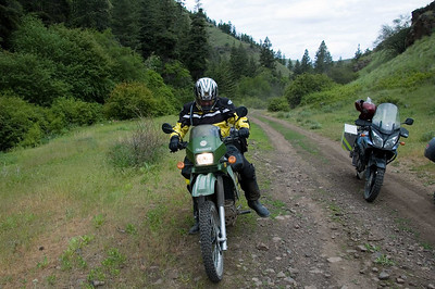 The were about 4 KLRs on this run, a V-Strom, two 1200GSs, a KTM LC4, a XL500, and...