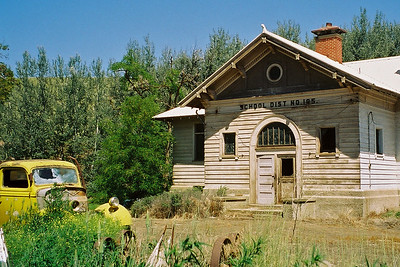 Here is the cool old school house that Mike blew past in Oregon on Friday afternoon.