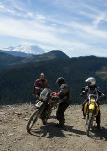 On the way to Naches trail.  Left to right is Steve, Scott and George.