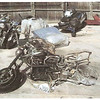 This is what is left of my beautiful 2004 R1150R after the crash and fire, courtesy of my insuror, after we settled my claim. Sad, very sad. It was a beautiful bike, enormously fun to ride.