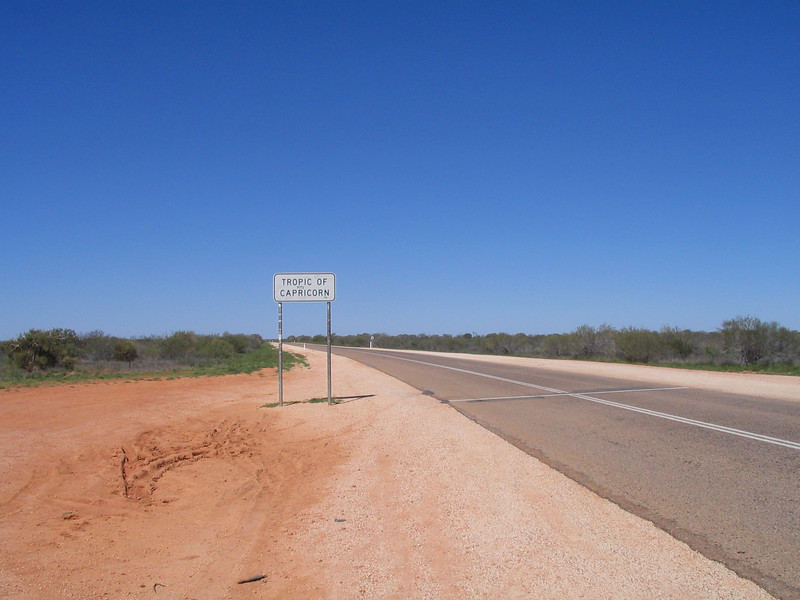 Heading to Exmouth after leaving Carnarvon, WA. Hmmn. getting more hot too...