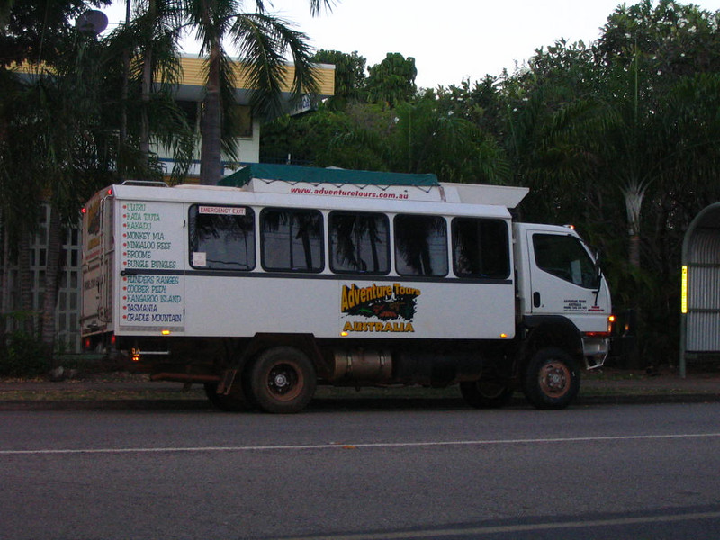 Pic of one version of a FWD tour bus. Not the one on my tour, we did not do a multi day outbck trip.