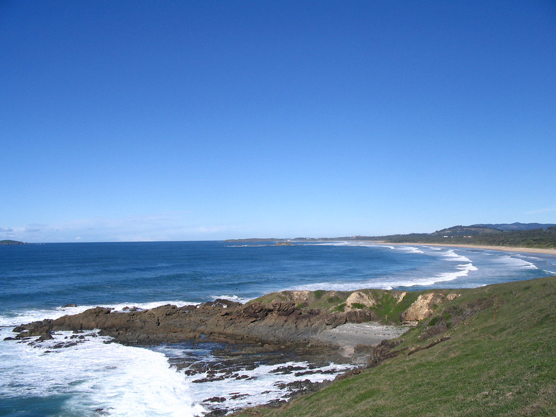 After arrival at GTR1000 AU Steve's we started the ride to the mountains with views of  the shores at Corindi Beach..