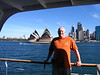 Dan touring the water of Sydney Harbor.