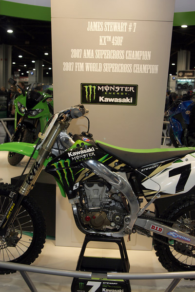 2007 KX450F Ridden by James Stewart #7 and the 2007 AMA Supercross Champion and 2007 FIM World Supercross Champion