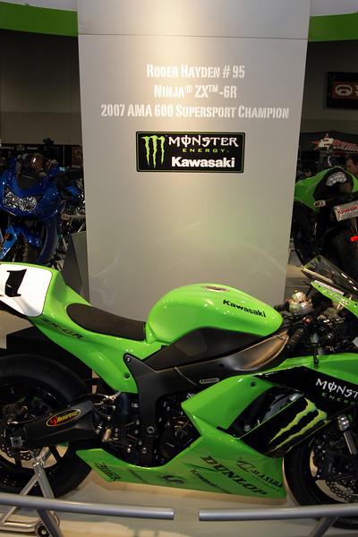 "2008 Kawasaki Ninja ZX-6R Ridden by  ""Roger Hayden"" and the  AMA 600 Supersport Champion"