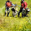 Tim and Eric in a very cool meadow we rode through.