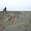 Danny on the top of a nasty sand downhill