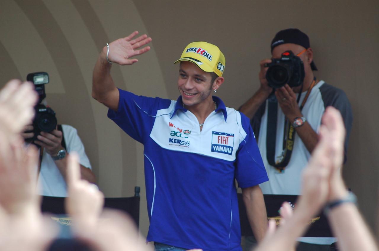 Valentino Rossi. Winner of Indianapolis '08 rain soaked race
