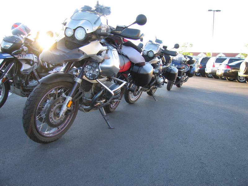 Scott's bike in front, mine behind