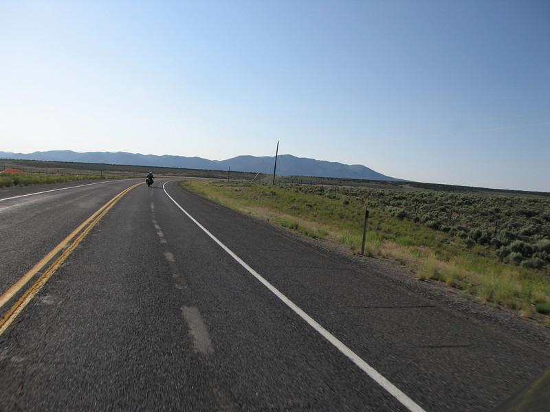 Highway shot near Vernon, UT - Saturday morning