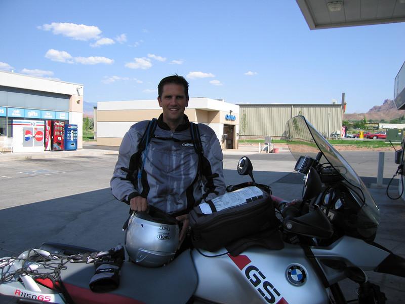 Scott in Moab around 3pm - it was a little warm