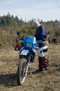 Bill and his Barbie KLR