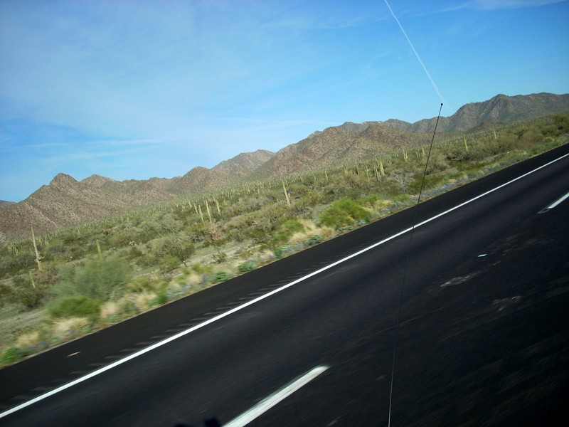 The last leg of day two crosses the desert on I-8 from Phoenix to San Diego. Nice, smooth and long.
