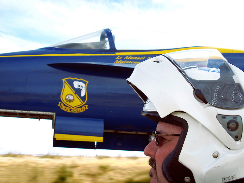 I was a little concerned when the Blue Angels flew a little low near us.......<br /> OK, it was on the back of a flatbed.