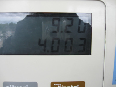 Supposedly, my motorcycle has a 4.0 gallon tank.  I might have taken that last tank right to the limit...