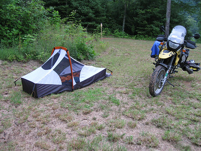 A quiet night's camping at Rick's mountaintop retreat.