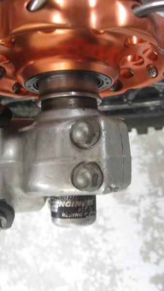 Right Front Axle Pinch Bolts.  Do not overtighten.