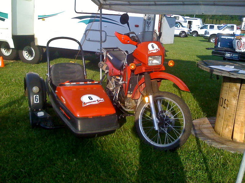 Vern had his sidecar rigs out for the ride.